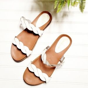 🎉Lulu's Summer White Braided Leather Sandals🎉